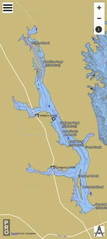 Parr Shoals Reservoir Fishing Map - i-Boating App