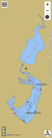 Ballinger City Lake Fishing Map - i-Boating App