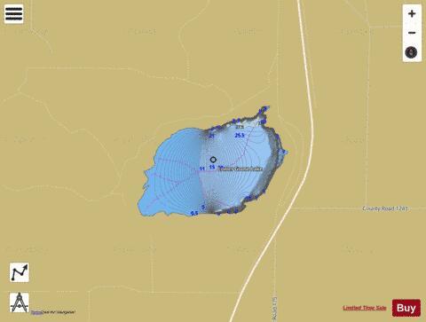 Lower Goose Lake Fishing Map I Boating App