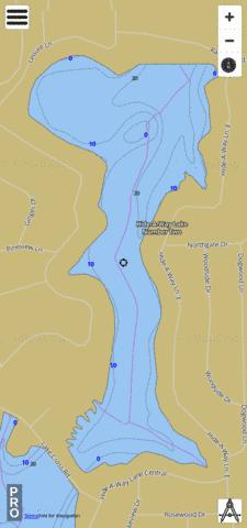 Hide-A-Way Lake Number Two Fishing Map - i-Boating App