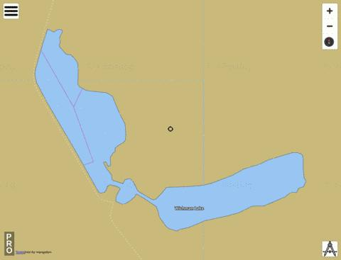 Wichman Lake Fishing Map - i-Boating App