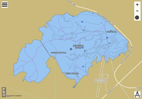 Lake Sulphur Springs Fishing Map - i-Boating App