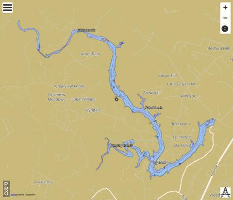 South Fork Rivanna River Reservoir Fishing Map - i-Boating App