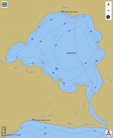 Crane Lake Fishing Map - i-Boating App