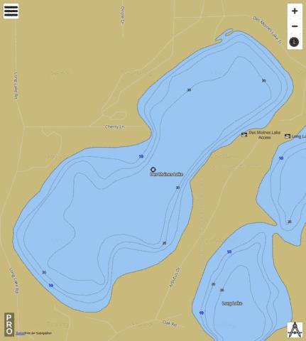 Des Moines Lake ( Map : US_DL_WI_01563915) | Nautical Charts App on