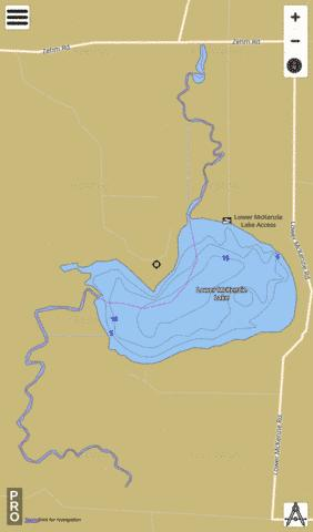 Lower McKenzie Lake Fishing Map - i-Boating App