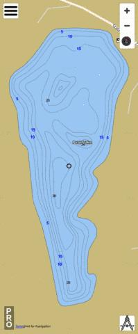 Pear Lake Fishing Map - i-Boating App
