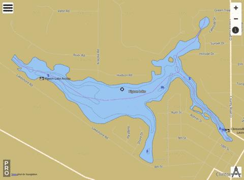 Pigeon Lake Fishing Map - i-Boating App