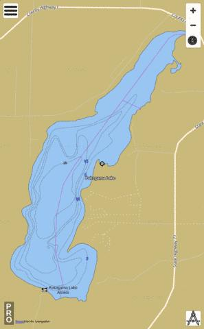 Pokegama Lake Fishing Map USDLWI Nautical Charts App - Pokegama lake map