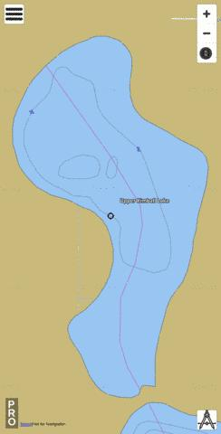 Upper Kimball Lake Fishing Map - i-Boating App