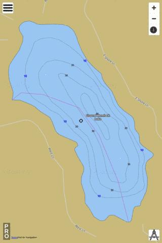 Ground Hemlock Lake Fishing Map - i-Boating App