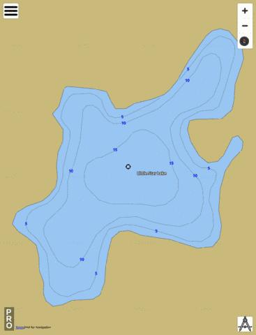 Little Star Lake Fishing Map - i-Boating App