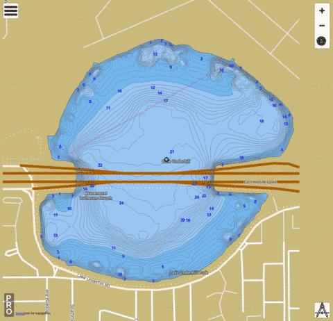 Underhill Fishing Map - i-Boating App