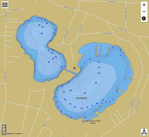 Stanley Fishing Map - i-Boating App