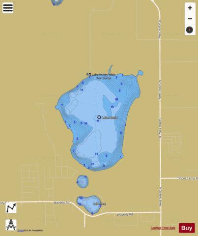 Lake annie fishing map us fl 00277897 nautical for Florida fishing app