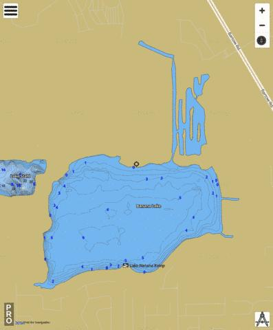 BANANA LAKE Fishing Map - i-Boating App