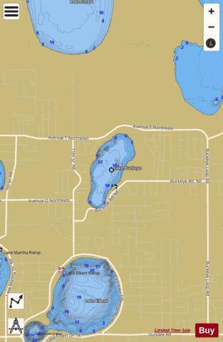 Lake buckeye fishing map us fl 00279594 nautical for Buckeye lake fishing