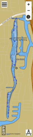 LAKE CLARKE Fishing Map - i-Boating App
