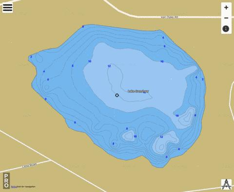 LAKE CRENSHAW Fishing Map - i-Boating App