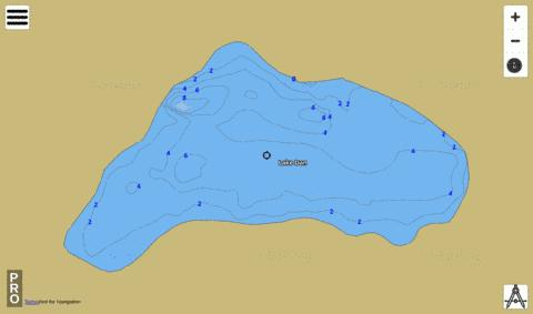LAKE DAN Fishing Map - i-Boating App