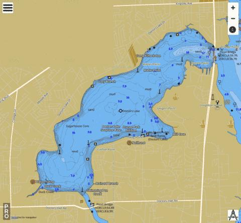 DOCTORS LAKE Fishing Map - i-Boating App
