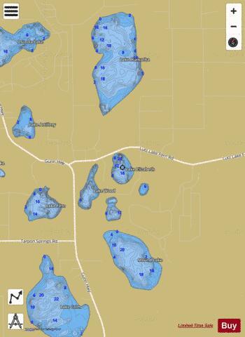 Lake elizabeth fishing map us fl 00282162 nautical for Lake elizabeth fishing