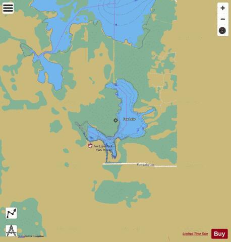 Fox lake fishing map us fl 00282770 nautical charts app for Fishing spots app