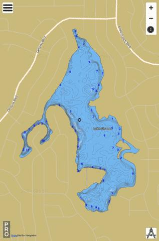 LAKE GLEASON Fishing Map - i-Boating App