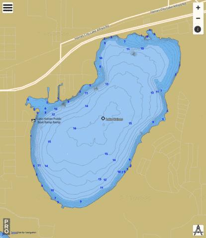 LAKE HAINES Fishing Map - i-Boating App