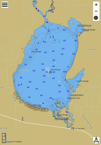 Deep Creek Florida Map.Lake Harney Fishing Map Us Fl 00283749 Nautical Charts App