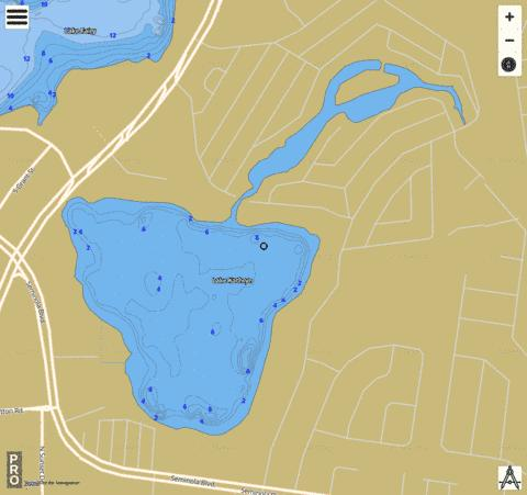LAKE KATHRYN Fishing Map - i-Boating App