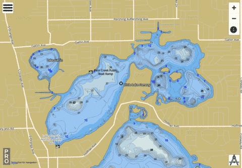 LITTLE LAKE CONWAY Fishing Map - i-Boating App