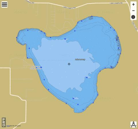 LAKE LOWERY Fishing Map - i-Boating App
