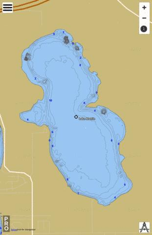 LAKE MATTIE Fishing Map - i-Boating App