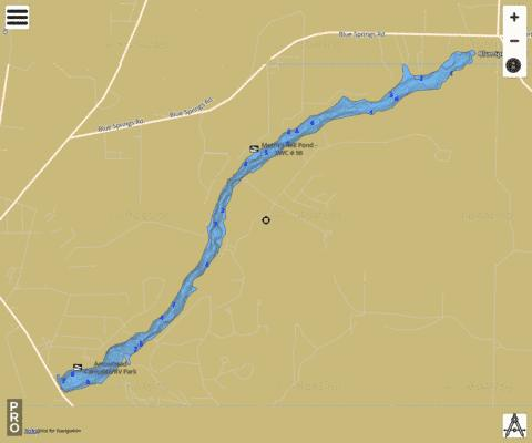 MERRITTS MILL POND Fishing Map - i-Boating App