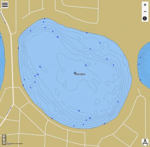 LAKE MIRROR Fishing Map - i-Boating App