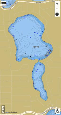 LAKE OTIS Fishing Map - i-Boating App