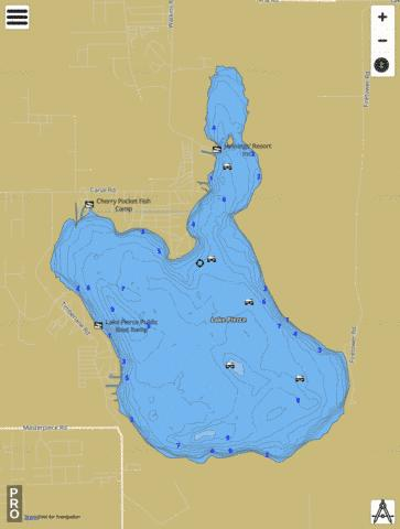 LAKE PIERCE Fishing Map - i-Boating App