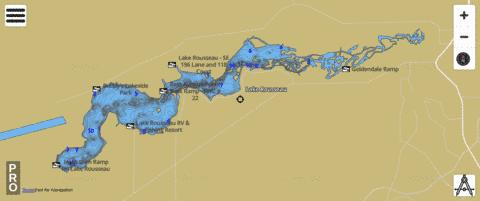 LAKE ROUSSEAU Fishing Map - i-Boating App