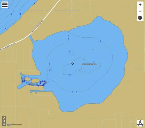 LAKE RUNNYMEDE Fishing Map - i-Boating App