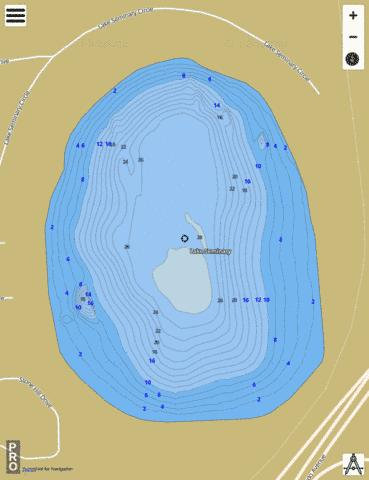 LAKE SEMINARY Fishing Map - i-Boating App