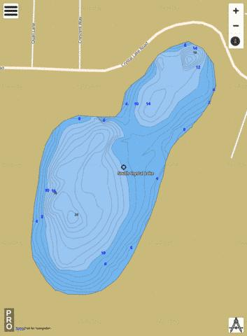 SOUTH CRYSTAL LAKE Fishing Map - i-Boating App