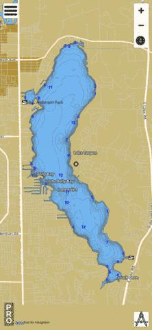 Lake tarpon fishing map us fl 00292049 nautical for Lake tarpon fishing