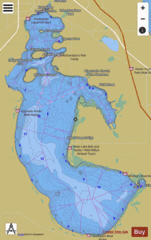 LAKE TOHOPEKALIGA Fishing Map - i-Boating App