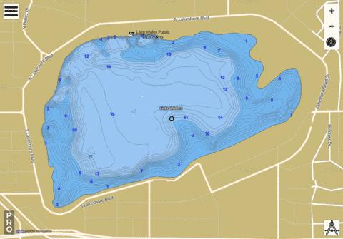 LAKE WALES Fishing Map - i-Boating App
