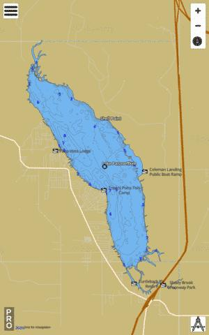 LAKE PANASOFFKEE Fishing Map - i-Boating App