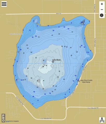 LAKE CLINCH Fishing Map - i-Boating App