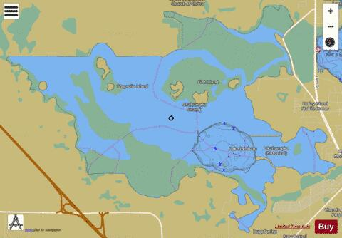 OKAHUMPKA SWAMP Fishing Map - i-Boating App