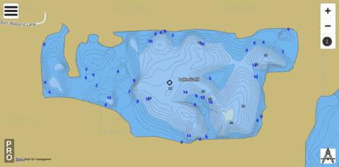 LAKE STAHL Fishing Map - i-Boating App