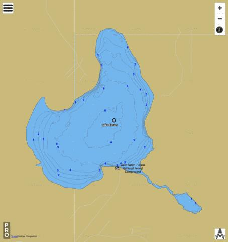 LAKE EATON Fishing Map - i-Boating App